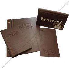 Долговечные папки для меню из натуральной кожи