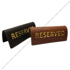 Кожаные таблички для резерва стола