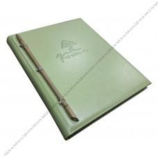 Папки меню из кожи с бамбуком